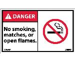 DANGER NO SMOKING MATCHES OR OPEN FLAMES LABEL