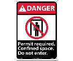 DANGER PERMIT REQUIRED FONFINED SPACE DO NOT ENTER SIGN