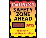 ATTENTION SAFETY ZONE AHEAD SCOREBOARD