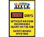 TEAMWORK IMPROVES SAFETY DAYS WITHOUT AN OSHA RECORDABLE INJURY SCOREBOARD