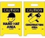 HARD HAT AREA DOUBLE-SIDED FLOOR SIGN