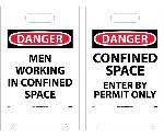 DANGER MEN WORKING IN CONFINED SPACE DOUBLE-SIDED FLOOR SIGN