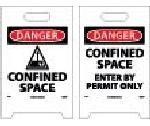 DANGER CONFINED SPACE DOUBLE-SIDED FLOOR SIGN