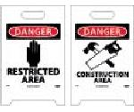DANGER RESTRICTED AREA DOUBLE-SIDED FLOOR SIGN