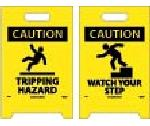 CAUTION WATCH YOUR STEP DOUBLE-SIDED FLOOR SIGN