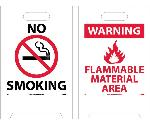 NO SMOKING DOUBLE-SIDED FLOOR SIGN
