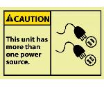CAUTION THIS UNIT HAS MORE THAN ONE POWER SOURCE LABEL