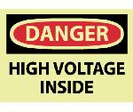DANGER HIGH VOLTAGE INSIDE LABEL
