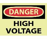 DANGER HIGH VOLTAGE LABE