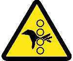 PINCH POINT HAZARD ISO LABEL