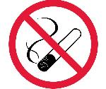NO SMOKING ISO LABEL