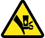 CRUSH HAZARD ISO LABEL