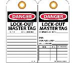 DANGER LOCK-OUT MASTER TAG LOCK LOCK# LOCATION TAG