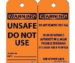 WARNING UNSAFE DO NOT USE TAG