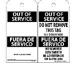 OUT OF SERVICE BILINGUAL TAG