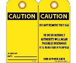 CAUTION SIGNED BY___ DATE___ TAG