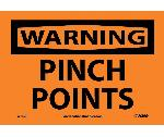 WARNING PINCH POINTS SIGN