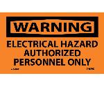 WARNING ELECTRICAL HAZARD LABEL