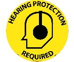 HEARING PROTECTION REQUIRED WALK ON FLOOR SIGN