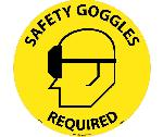 SAFETY GOGGLES REQUIRED WALK ON FLOOR SIGN