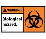 WARNING BIOLOGICAL HAZARD LABEL