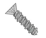 Phillips Flat Head High Low Screws 18/8 Stainless Steel