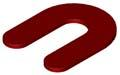 Horse Shoe Shim 1/8 x 2-5/16 x 3, RED Plastic (Case of 1,000)