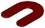 Horse Shoe Shim 1/8 x 1-7/8 x 2-5/8, RED Plastic (Case of 1,000)