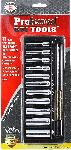 "Proferred 1/4"" Drive SAE 6 Point Deep Socket Set 11 Piece"