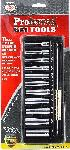 "Proferred 1/4"" Drive SAE 6 Point Standard Socket Set 11 Piece"