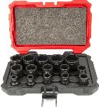 "Proferred 1/2"" Drive SAE 6 Point Standard Impact Socket Set 15 Piece"