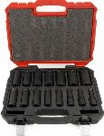 "Proferred 1/2"" Drive SAE 6 Point Deep Impact Socket Set 15 Piece"