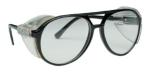 SAS 5125 Classic Safety Glasses - Black Frame with Clear Lens - Polybag (12 Pr)