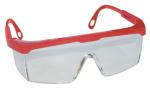SAS 5272 Hornets Safety Glasses - Red Frame with Clear Lens - Polybag (12 Pr)