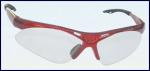 SAS 540-0000 Diamondback Safety Glasses - Red Frame with Clear Lens - Polybag (12 Pr)