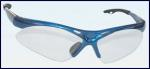 SAS 540-0300 Diamondback Safety Glasses - Blue Frame with Clear Lens - Polybag (12 Pr)