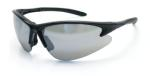 SAS 540-0603 DB2 Safety Glasses - Black Frame with Mirror Lens - Polybag (12 Pr)
