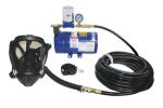 SAS 9800-35 One-Person Opti-Fit Full Face Supplied Air System with 1/4 HP Oil-Less Air Pump