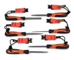 "Snap-On® Bahco Tools@Height Set 4"" Files With Handles"