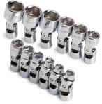 "SK 12 Piece 1/4"" Drive 6 Point Flex Metric Socket Set"