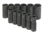 "SK 4082 12 pc. 3/8"" Dr. 6-Point High Visibility Deep Metric Impact Socket Set"