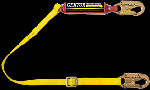 "Gemtor SP1101LA6 Soft-Pack energy absorber with 1"" wide polyester web lanyard with #5155 locking snaphooks at each end. 6 ft"