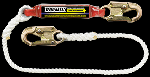 "Gemtor SP2215L6 Soft-Pack energy absorber with ½"" wide polyester rope lanyard with #5155 locking snaphook at each end. 6 ft."