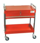 Sunex 8013A Service Cart with Locking Top and Drawer, Red