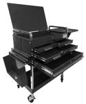 Sunex 8013ABKDLX Service Cart with Locking Top and Locking Drawer, Black