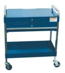 Sunex 8013ABL Service Cart with Locking Top and Drawer, Blue