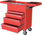 Sunex 8043R 4 Drawer Hybrid Utility Cart with Sliding Top, Red