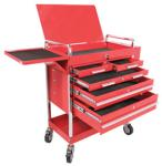 Sunex 8045 Professional 5 Drawer Service Cart with Locking Top-Red
