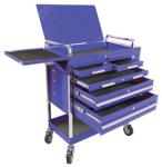 Sunex 8045BL Professional Duty 5 Drawer Service Cart w/ Accessories, Blue
