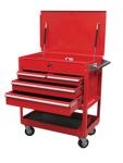 Sunex 8054 4 Drawer Service Cart with Locking Top, Red